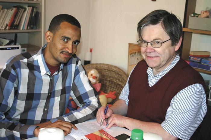Suhib Ali aus dem Sudan und Herman Trinogga aus Verden